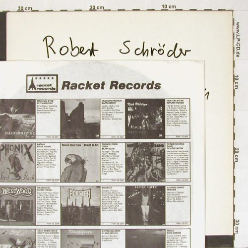 Schröder,Robert: Brain Voyager,No Cover, Racket(), D, 85 - LP - A1651 - 4,00 Euro
