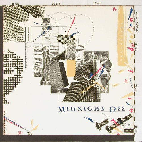 Midnight Oil: 10,9,8,7,6,5,4,3,2,1, CBS(), US, 1982 - LP - A3252 - 5,50 Euro