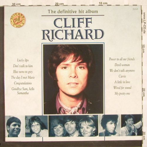 Richard,Cliff: The Definitive Hit Album, EVA/EMI(7919641), EEC, 89 - 2LP - A3555 - 9,00 Euro