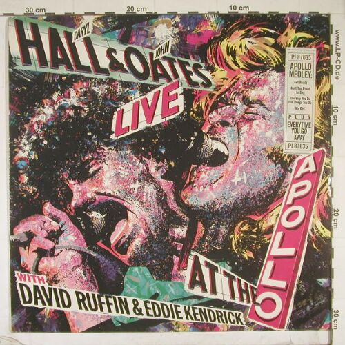 Hall,Daryl & John Oates: Live At The Apollo, RCA(PL87035), D, 86 - LP - A3884 - 4,00 Euro