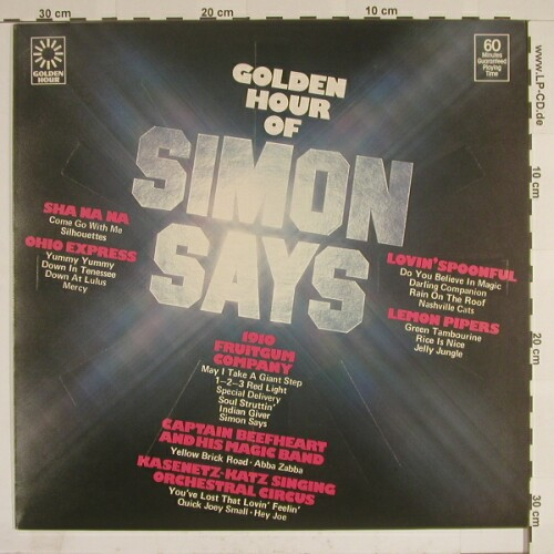 V.A.Simon Says: 25 Tr., GoldenHour(GH 862), UK, 77 - LP - A7033 - 4,00 Euro