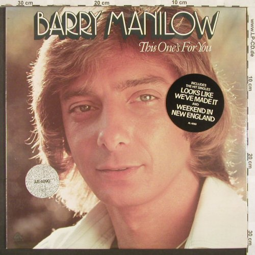 Manilow,Barry: This One's For You, FS-New, Arista(4090), US, 76 - LP - A7163 - 6,00 Euro