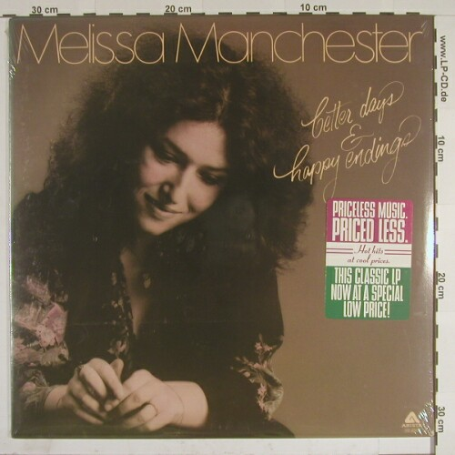Manchester,Melissa: Better Days & Happy Endings, FS-New, Arista(AB 4067), US, 76 - LP - A7250 - 9,00 Euro