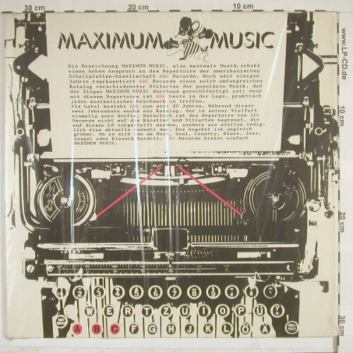 V.A.Maximum Music: 12 Tr. Foc, ABC(27375 XT), D,  - LP - A7402 - 6,00 Euro