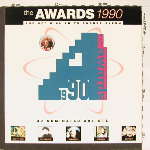 V.A.The Awards 1990: 30 Tr.,Foc, Telstar(STAR 2386), UK, 1990 - 2LP - A883 - 7,50 Euro