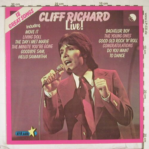 Richard,Cliff: Live!, EMI(028-06226), NL, 72 - LP - B1134 - 4,00 Euro