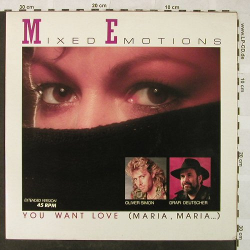Mixed Emotions: You Want Love(Maria,Maria...)*2, EMI(14 7172 6), D, 86 - 12inch - B1574 - 2,50 Euro