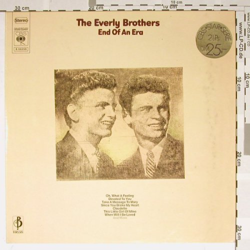 Everly Brothers: End Of An Era, Foc, CBS(S66259), NL,  - 2LP - B1866 - 6,00 Euro