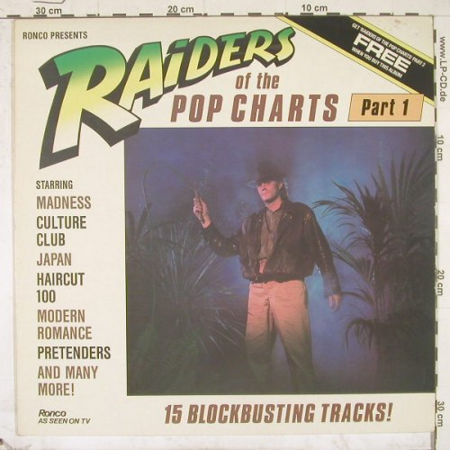 V.A.Raiders Of The Pop Charts Pt.1: 15 Tr., Ronco(RTL 2088-A), UK, 82 - LP - B2636 - 4,00 Euro