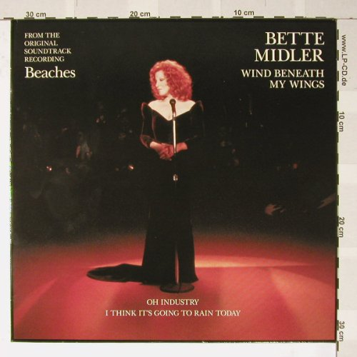 Midler,Bette: Wind Beneath My Wings+2, Atlantic(A8972T), D, 1988 - 12inch - B2938 - 3,00 Euro