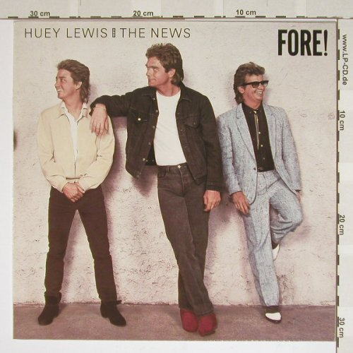 Lewis,Huey & The News: Fore!, Chrys.(207 897), , 86 - LP - B3941 - 2,50 Euro