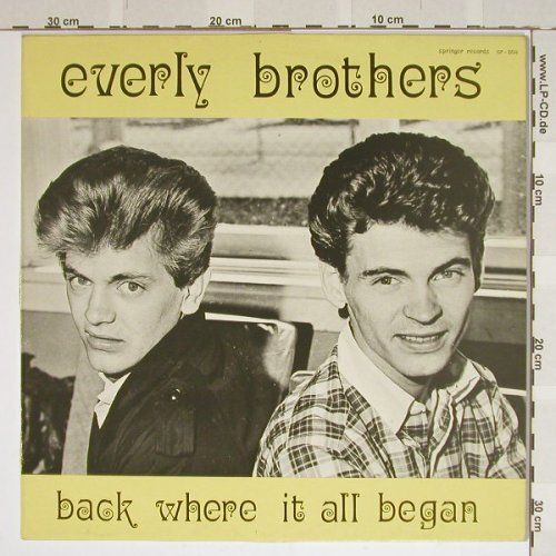 Everly Brothers: Back Where It All Began, Springer(804), UK,  - LP - B3945 - 4,00 Euro