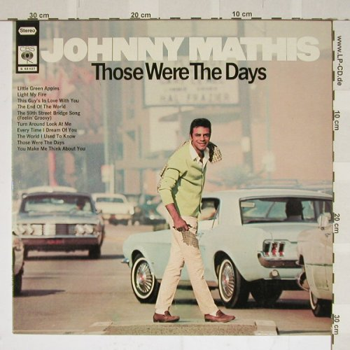Mathis,Johnny: Those Were The Days, CBS(S 63427), D,  - LP - B4012 - 4,00 Euro