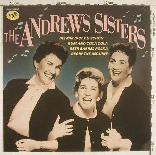 Andrews Sisters: Same, MFP(1A022-58097), NL, 82 - LP - B558 - 4,00 Euro