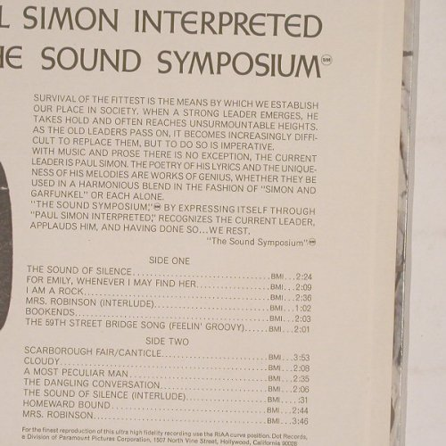 Sound Symposium, The: Paul Simon Interpreted, DOT(25871), US, co,  - LP - B5654 - 14,00 Euro