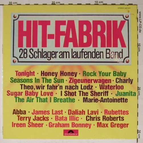 V.A.Hit-Fabrik: 28 Schlager am laufenden Band, Polydor(2437 271), D,  - LP - B5674 - 3,00 Euro