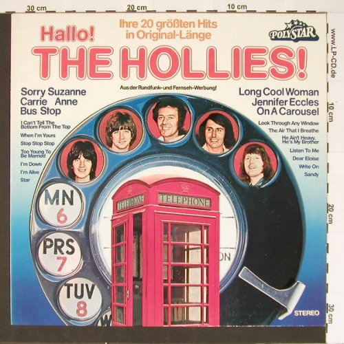 Hollies: Hallo! 20 Größten Hits, Polystar(0060 222), D,  - LP - B6941 - 5,50 Euro