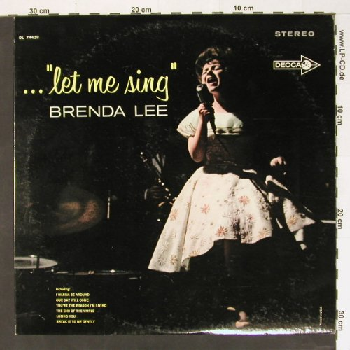 Lee,Brenda: Let me sing, promo sticker, Decca(DL 74439), US,  - LP - B8437 - 15,00 Euro