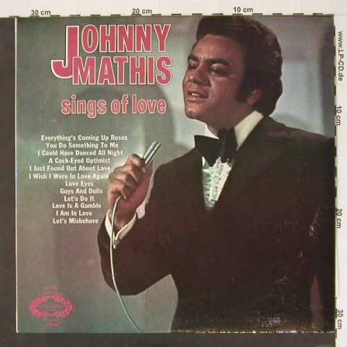 Mathis,Johnny: Sings Of Love, Hallmark(SHM 749), UK, Ri, 1964 - LP - B9512 - 4,00 Euro