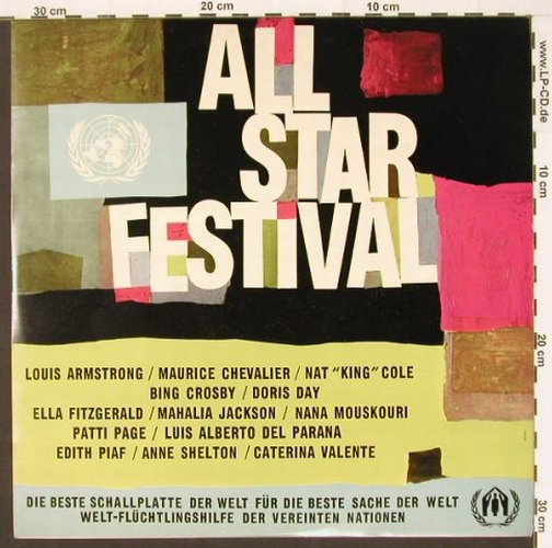 V.A.All Star Festival: Bing Crosby ...Valente, United Nations(99500 DL), D,Mono, 1963 - LP - C1526 - 4,00 Euro