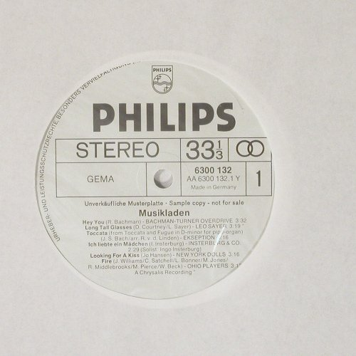 V.A.Musikladen: 12 Tr.,Foc, wh.Muster, Philips(6300 132), D,  - LP - C163 - 14,00 Euro