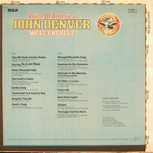 Denver,John: Voice Of America-Welterfolge, RCA(31082-1), D, Club-Ed, 80 - LP - C1989 - 4,00 Euro