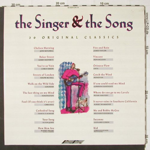V.A.The Singer & the Song: 20 Original Classics, Stylus(SMR 975), UK, 1989 - LP - C2333 - 4,00 Euro