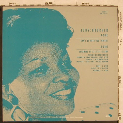 Boucher,Judy: Can't Be With You Tonight+1, Transparent(802045-1), D, 1987 - 12inch - C2590 - 2,00 Euro