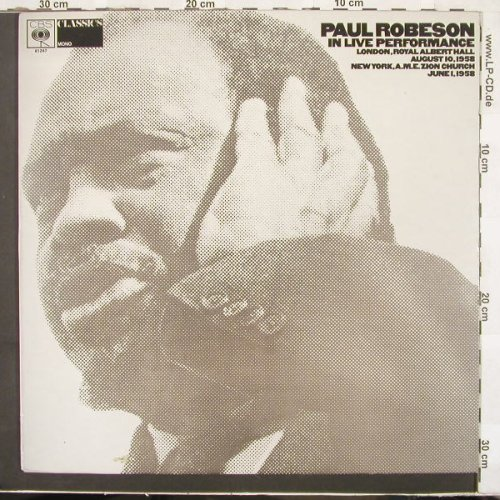 Robeson,Paul: In Live Performance London/NYC, CBS(61247), UK, 1971 - LP - C2730 - 5,50 Euro