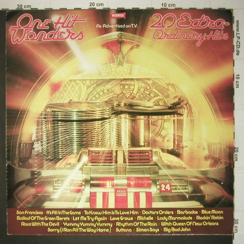 V.A.One Hit Wonders: 20 Tr., Warwick(WW 5048), UK, 1978 - LP - C4327 - 4,00 Euro