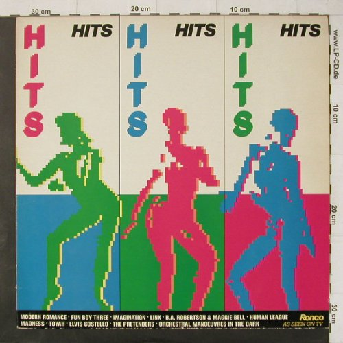 V.A.Hits Hits Hits: 21 Tr., Ronco(RTL  2063), UK, 1981 - LP - C4541 - 5,00 Euro