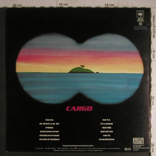 Men At Work: Cargo, CBS(25372), NL, 1983 - LP - C4831 - 4,00 Euro