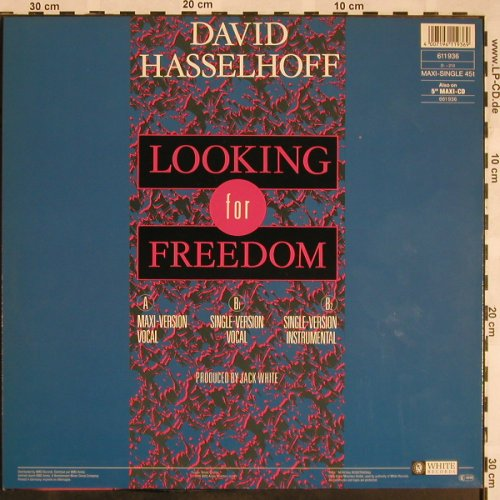 Hasselhoff,David: Looking For Freedom*3, White(611 936), D, 1988 - 12inch - C532 - 3,00 Euro