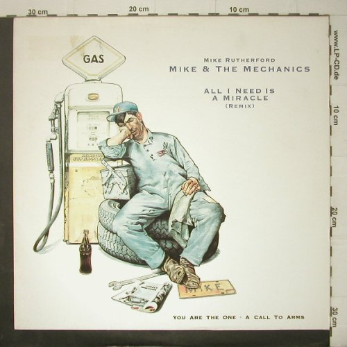 Mike & The Mechanics: All I Need Is A Miracle+2, remix, WEA(258 710-0), D, 1984 - 12inch - C6379 - 3,00 Euro