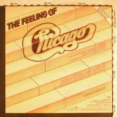 Chicago: The Feeling Of - A Collection, CBS(24019), NL, 1982 - LP - C7165 - 5,50 Euro