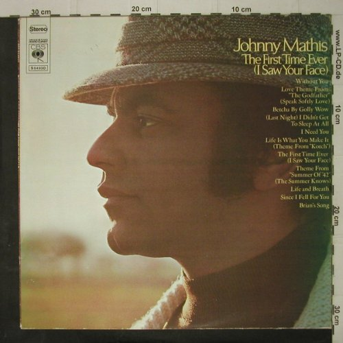 Mathis,Johnny: The First Time Ever(I SawYour Face), CBS(S 64930), NL, 1972 - LP - C7578 - 4,00 Euro