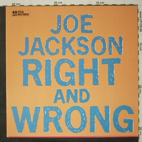 Jackson,Joe: Right And Wrong+2 live, AM(392088-1), D, 1986 - 12inch - C7907 - 2,50 Euro