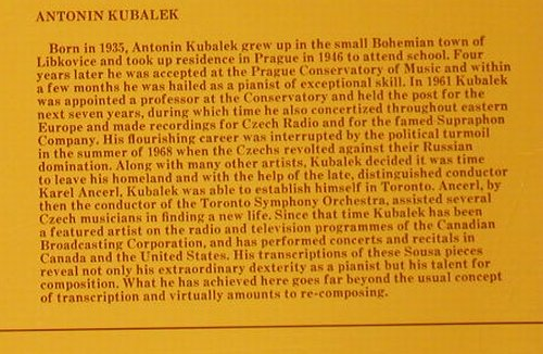 Kubalek,Antonin: Other Sides Of Sousa (piano), Antilles(AN-7015), US, 1975 - LP - C8361 - 5,00 Euro