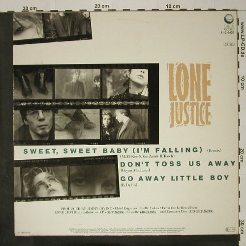 Lone Justice: Sweet,Sweet Baby(remix)+2, Geffen(A 12-6426), NL, 1985 - 12inch - C8560 - 3,00 Euro