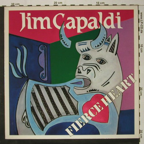 Capaldi,Jim: Fierce Heart, WEA(25-0057-1), D, 1983 - LP - C8619 - 5,50 Euro