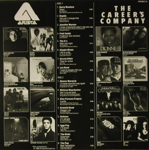 V.A.Career's Company: Iggy Pop,Reed,Kinks...,Promo, Arista(PROMO 13), NL, 1980 - LP - C8695 - 5,00 Euro