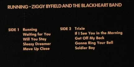 Byfield,Ziggy and the Blackheart: Running, Creole(6.24370 AO), D, 1980 - LP - C8751 - 4,00 Euro