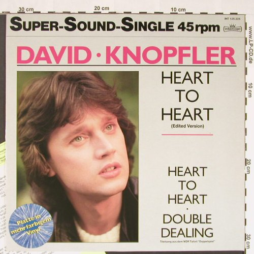 Knopfler,David: Heart To Heart,Edit+2,colouredVinyl, Intercord(INT 125.225), D, 1985 - 12inch - C8790 - 3,00 Euro