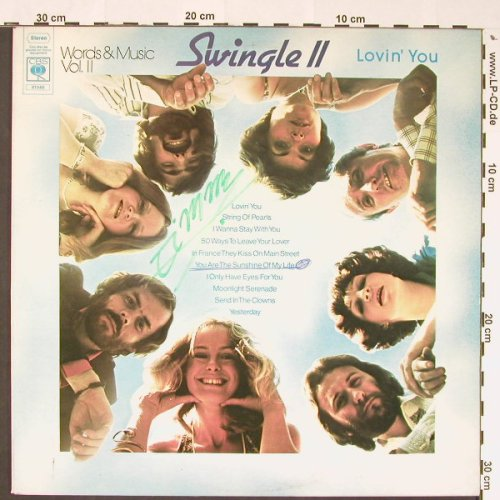 Swingle 2: Lovin'You-Words&Music,Vol.2, CBS(81546), UK,woc,wol, 1976 - LP - C8806 - 3,00 Euro
