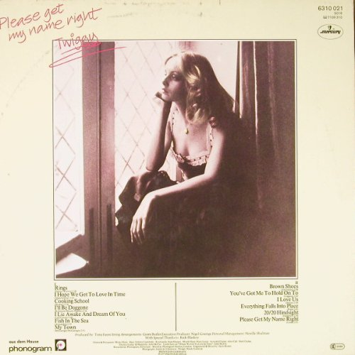 Twiggy: Please Get My Name Right, Mercury(6310 021), D, 1977 - LP - C8947 - 7,50 Euro
