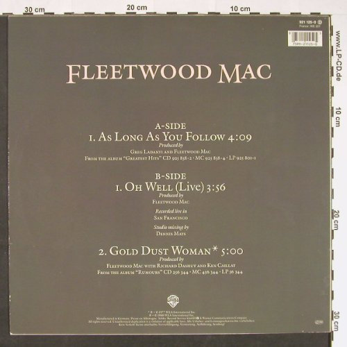 Fleetwood Mac: As Long As You Follow +2, WB(921 125-0), D, 1988 - 12inch - C8969 - 4,00 Euro