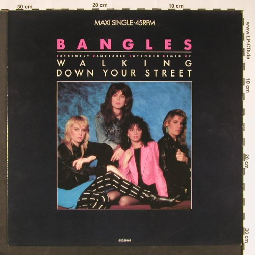 Bangles: Walking Down Your Street+1, CBS(650280 6), NL, 1986 - 12inch - C9233 - 2,00 Euro