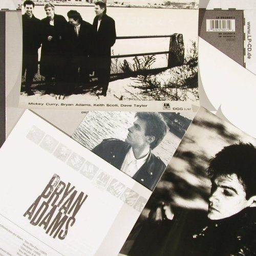 Adams,Bryan: Into The Fire,Facts,Poster,2*Foto, AM(393907-1), D, 1987 - LP - C9382 - 9,00 Euro