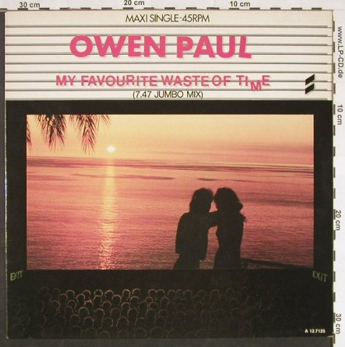 Paul,Owen - Jumbo-mix: My Favourite Waste Of Time+1, Epic(A 12.7125), NL, 1986 - 12inch - C9395 - 2,00 Euro