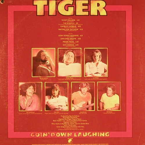 Tiger: Goin'down Laughing,co, EMI(ST-11660), US, 1976 - LP - C9460 - 12,50 Euro